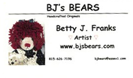 BJ's Bears by Betty J. Franks