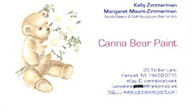 Canna Bear Paint by Kelly Zimmerman and Margaret Mount-Zimmerman