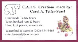 Email C.A.T.S. Creations made by Carol A. Teifer-Searl