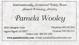 Pamela Wooley Artist Teddy Bears