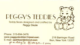 Peggy's Teddies by Peggy Deyle