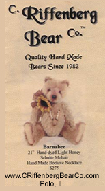 C. Riffenberg Bear Co Bears by Jane Monroe