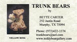 Trunk Bears by Bette Carter